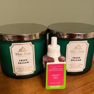 Bath & Body Candles & wallflower bundle 3 pieces